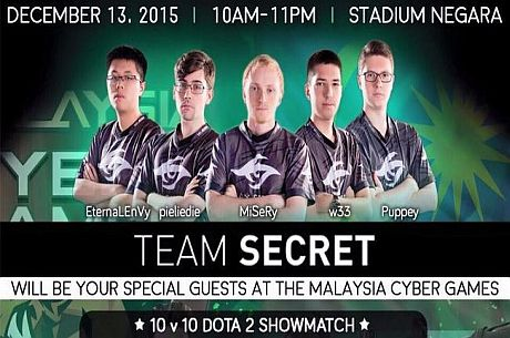 Team Secret – special guests at Malaysia Cyber Games Festival